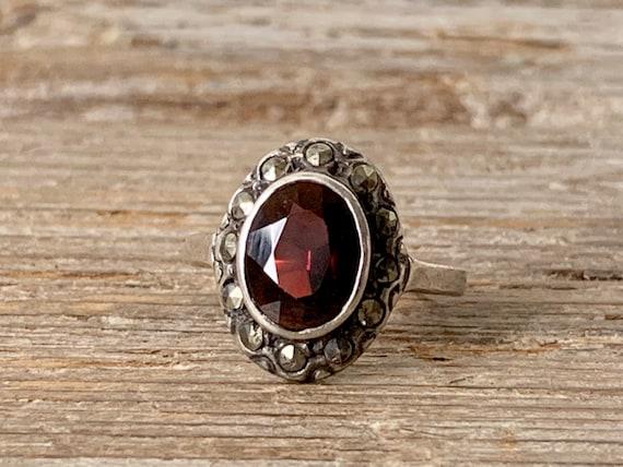 Vintage Art Deco ring, vintage Art Deco sterling s