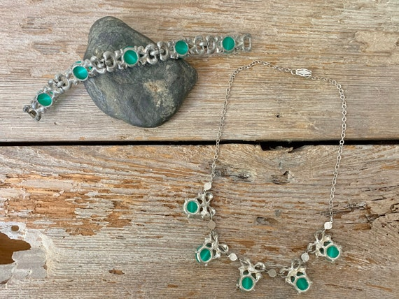 Vintage Art Deco jewelry set, Art Deco jewelry se… - image 9
