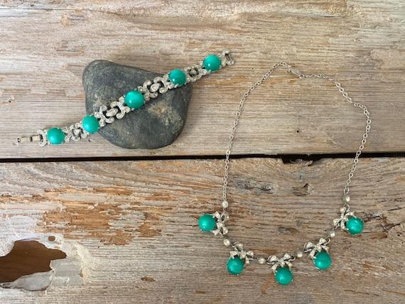 Vintage Art Deco jewelry set, Art Deco jewelry se… - image 2