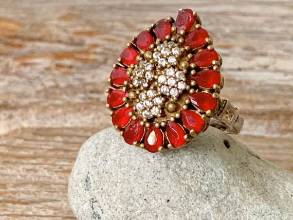 Vintage Turkish Ruby ring, vintage ruby ring, ruby