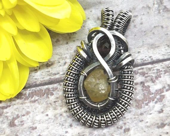 Gelbe und rote Granat Halskette berauschende Draht gewickelt | Etsy