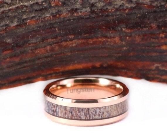 Personnalisé Acier Inoxydable Noir Beveled Edge Flat Band Ring-Gravure Gratuite