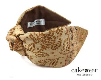 Headband-Gold Arabic Pattern