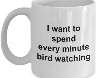 Bird Watching Mug – Birding Gifts White Coffee Cup 11oz / 15oz