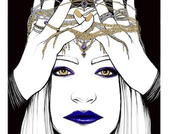 "Royal Diadem — Original 11""x17"" Illustration"