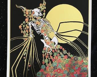 "Descending Darkness Ascending 11""x17"" GOLD FOIL Art Print"