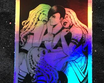 BINARY STAR Holographic Sticker