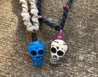 Skull Hemp Necklaces