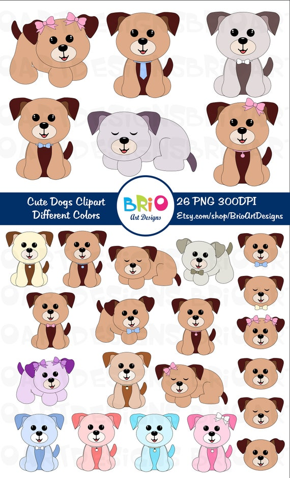 Items Similar To Dogs Clip Art Dogs Png Cute Puppy Dog Clip Art