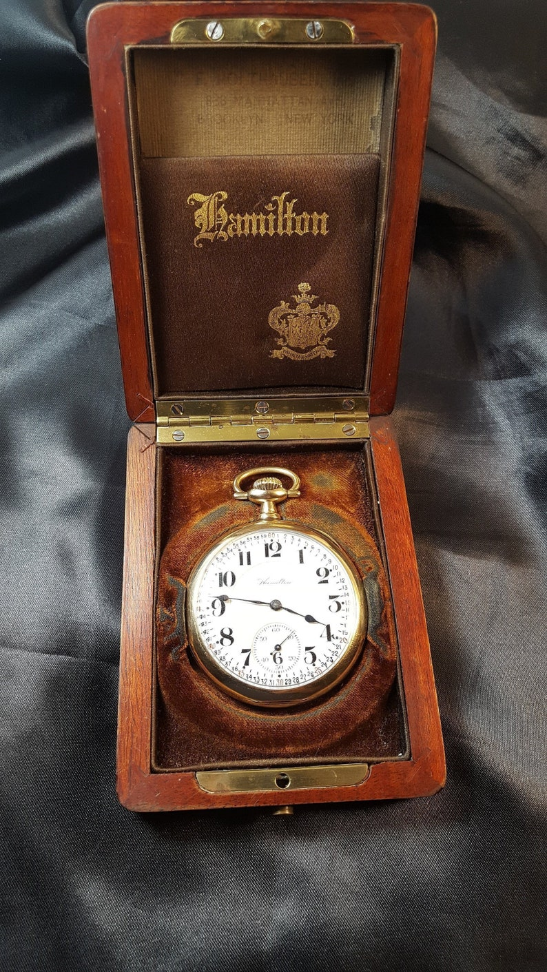 Useful Hamilton 992b Pocket Watch Movement Blueprint T-shirt Non-Ironing Jewelry & Watches