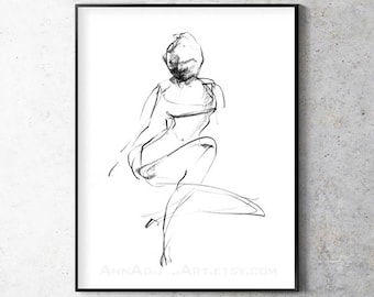 Abstract nude sketch