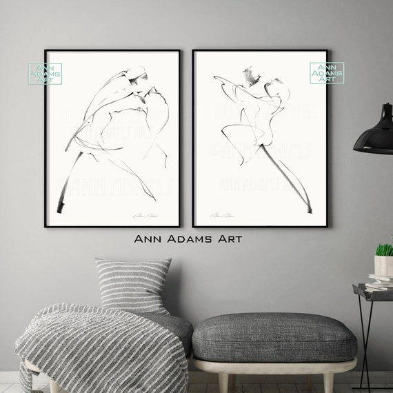 47r 43l Tango Dance Minimalist Sketches Drawing Abstract Line Etsy