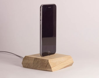 Pick Up - Magnetische Dockingstation aus Holz, für Android & iPhone
