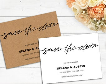 Rustic Save The Date Templates — Editable Wedding Template — Instant Download — Printable Template diy Save The Date — save the date invite