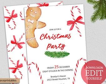 christmas invites etsy