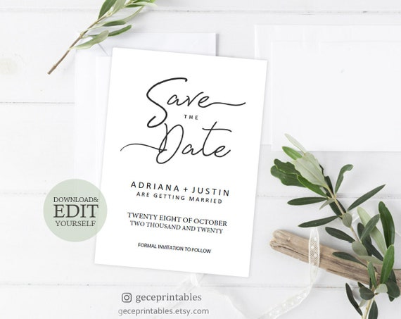 save the date template printable save the dates diy save the