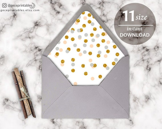 confetti envelope liner template printable envelope