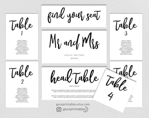 editable seating chart template printable wedding seating plan
