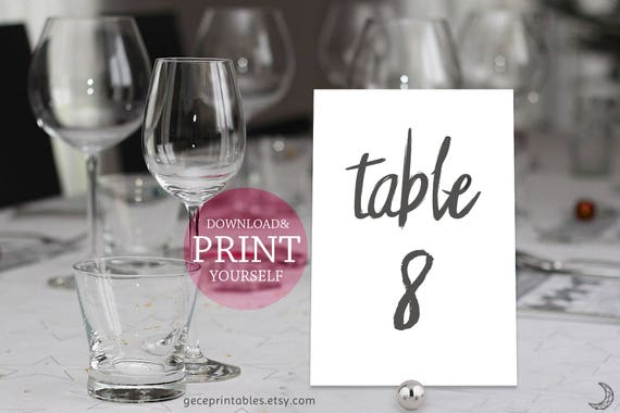 printable wedding table numbers diy wedding numbers numbers