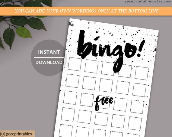 efc053087a58 Bingo Game Printable Instant Download baby bingo game