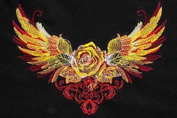 rose gold dragon wings