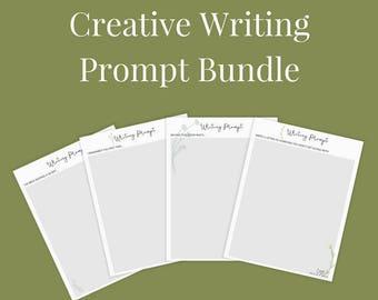 Creative Writing Prompt Printable Bundle - U.S Letter, instant download