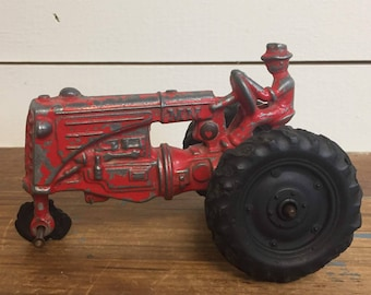Vintage toy tractor | Etsy