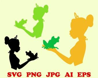 Disney Tiana Clipart Etsy