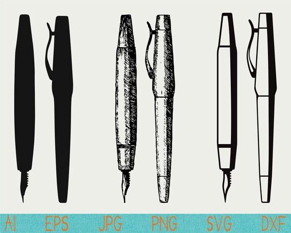 Fountain Pen Svg Pen Svg Pen Clipart Pen Cut File Png Cut Etsy
