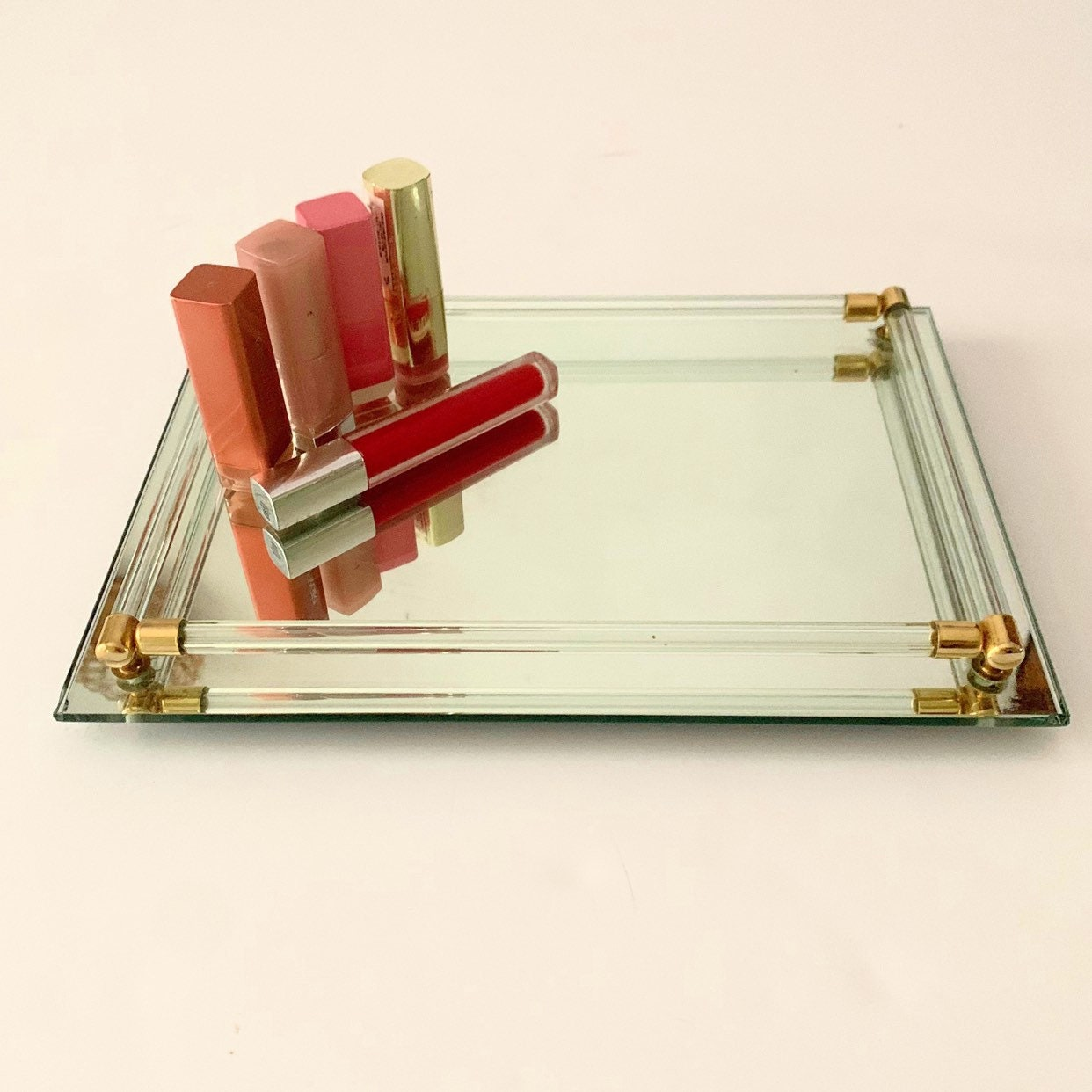 Vintage Vanity Tray Art Deco Decor Makeup Tray
