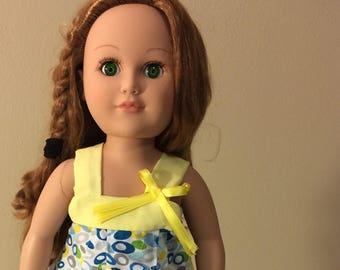 18 inch doll Sundress