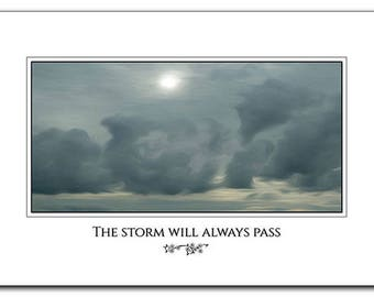 Storm Clouds - Inspirational Wall Art - Poster 12 x 18 - Picture of Clouds