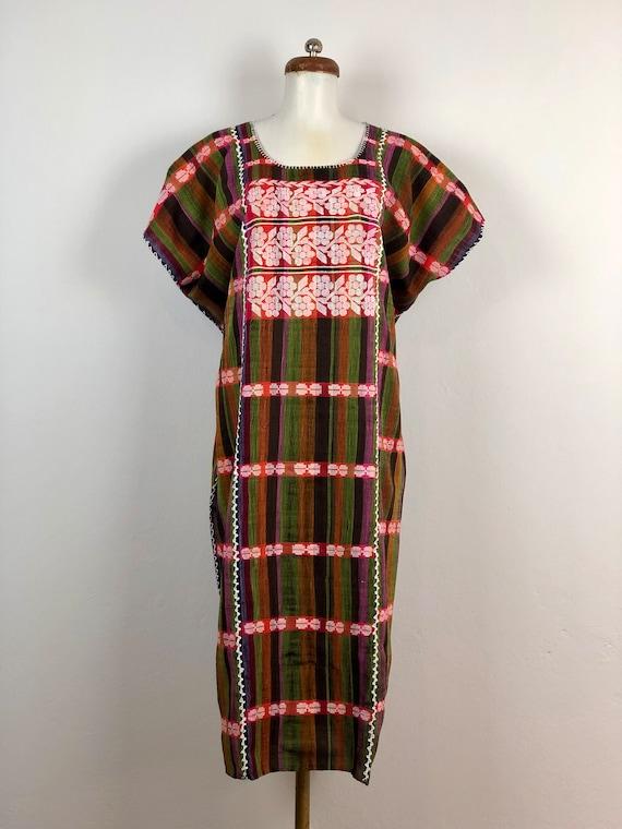 Mexican dress, Hand woven mexican dress, XL dress,