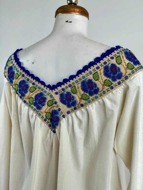 Hand embroidered mexican blouse, mexican blouse w… - image 6