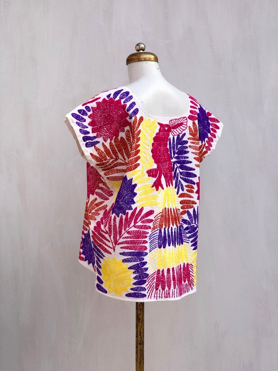 Embroidered mexican blouse, Mexican blouse with h… - image 6