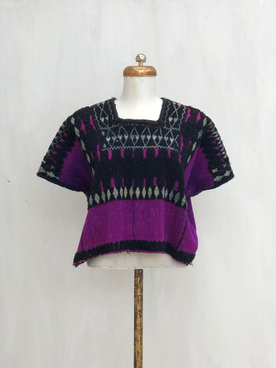 Mexican embroidered blouse, Vintage Mexican Huipil