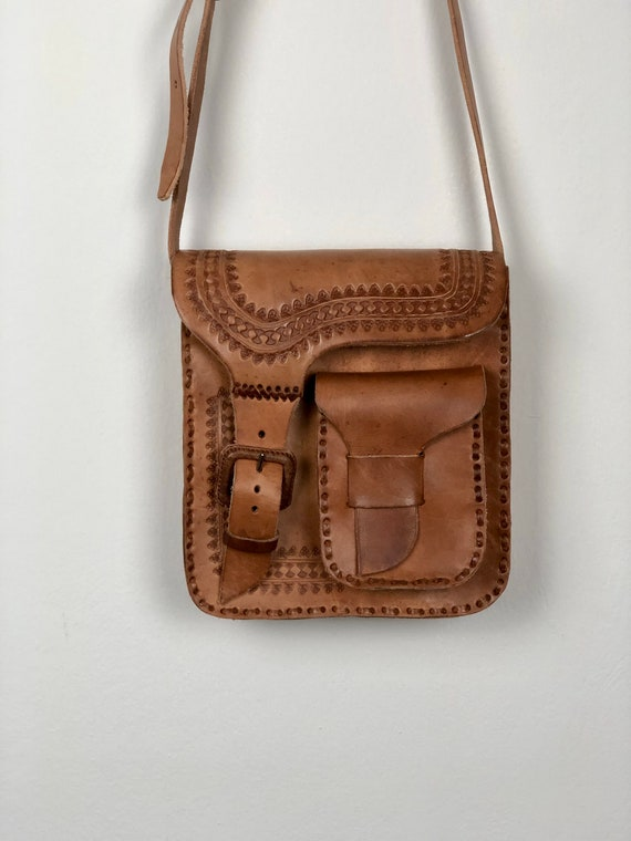 Mexican leather crossbody bag, mexican leather, me