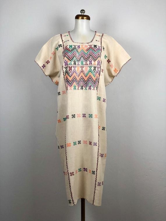 Mexican dress, maxi dress, xl dress, Hand woven me