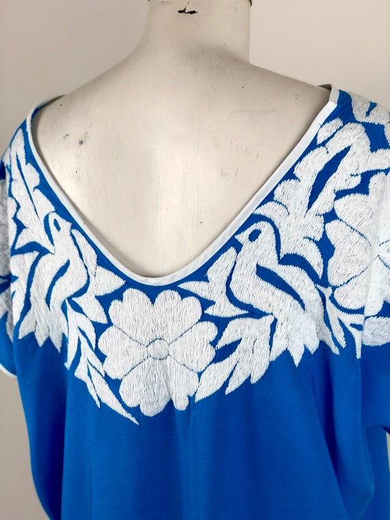 Mexican embroidered blouse, Mexican blouse with h… - image 6