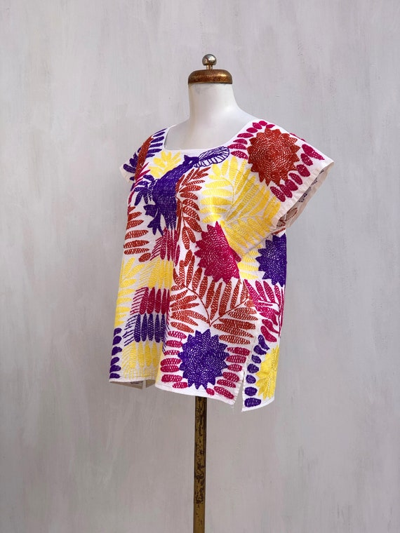 Embroidered mexican blouse, Mexican blouse with h… - image 5