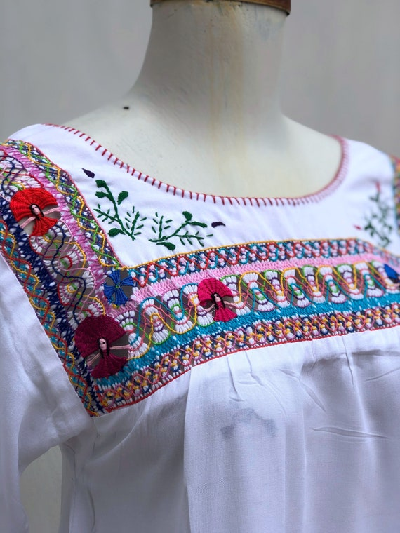 Mexican Embroidered Dress, mexican embroidered pu… - image 6