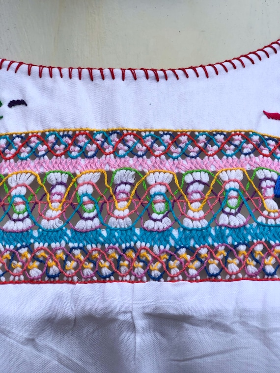 Mexican Embroidered Dress, mexican embroidered pu… - image 2