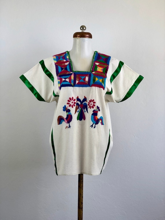 Mexican embroidered blouse, mexican hand embroider