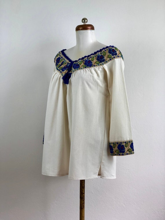 Hand embroidered mexican blouse, mexican blouse w… - image 5