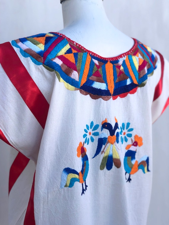 Mexican embroidered blouse, mexican hand embroide… - image 6