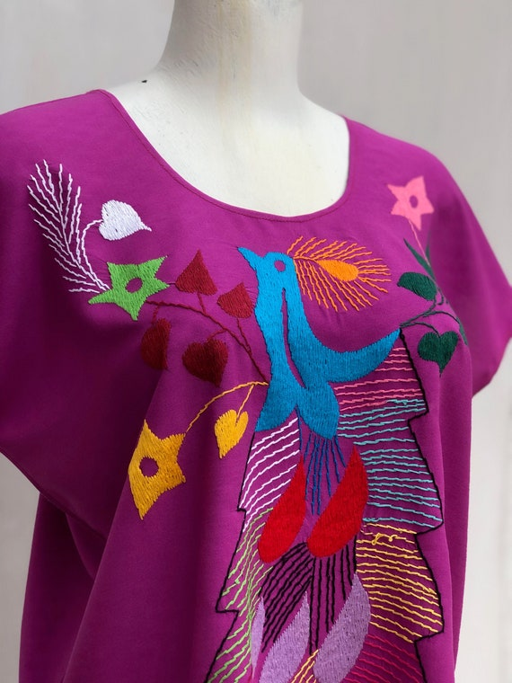 Mexican embroidered blouse, Mexican blouse with h… - image 2