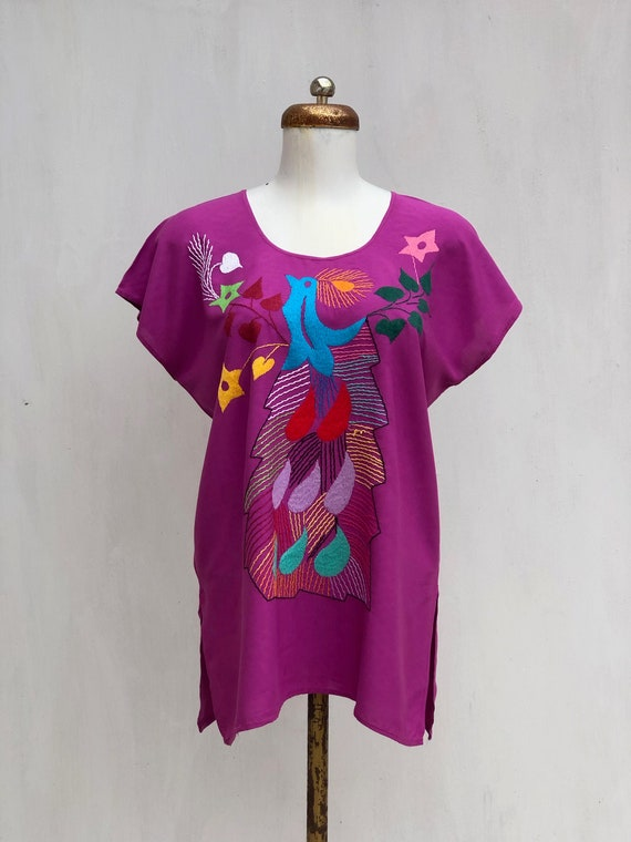 Mexican embroidered blouse, Mexican blouse with h… - image 1