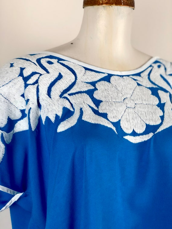 Mexican embroidered blouse, Mexican blouse with h… - image 8