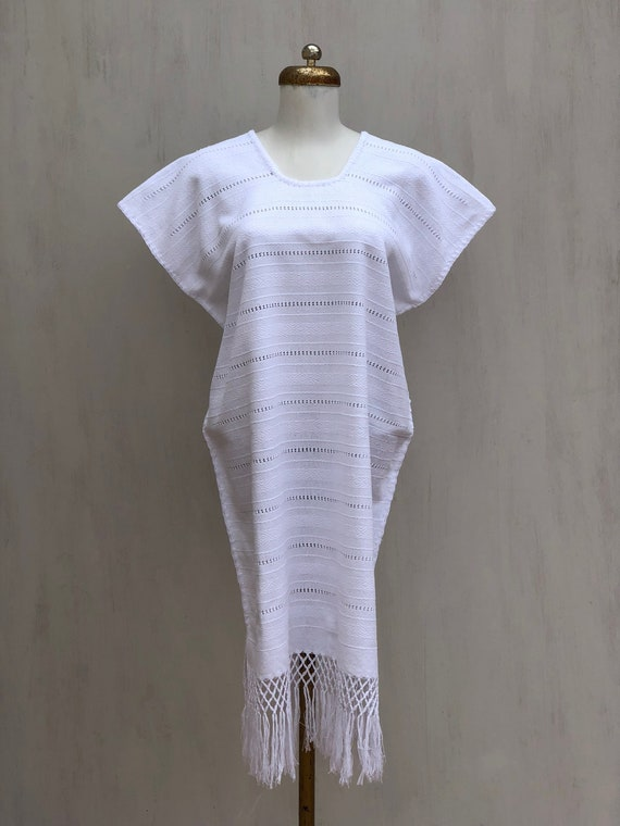 Mexican white dress, mexican dress, Mexican embroi