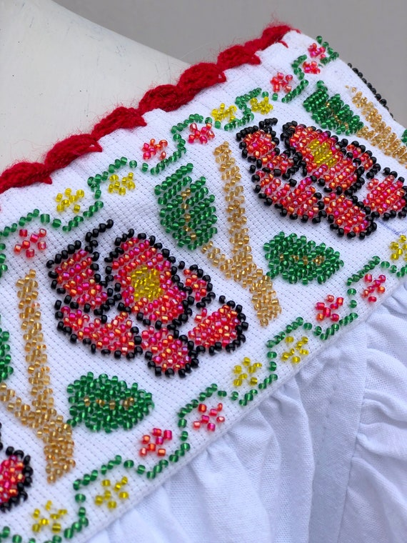 Mexican dress, hand embroidered mexican dress, Me… - image 4